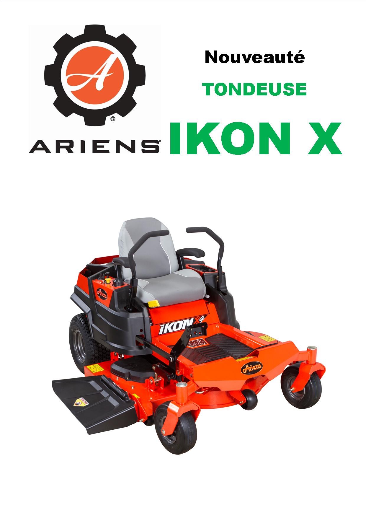 Gros Plan sur Ariens IKON X