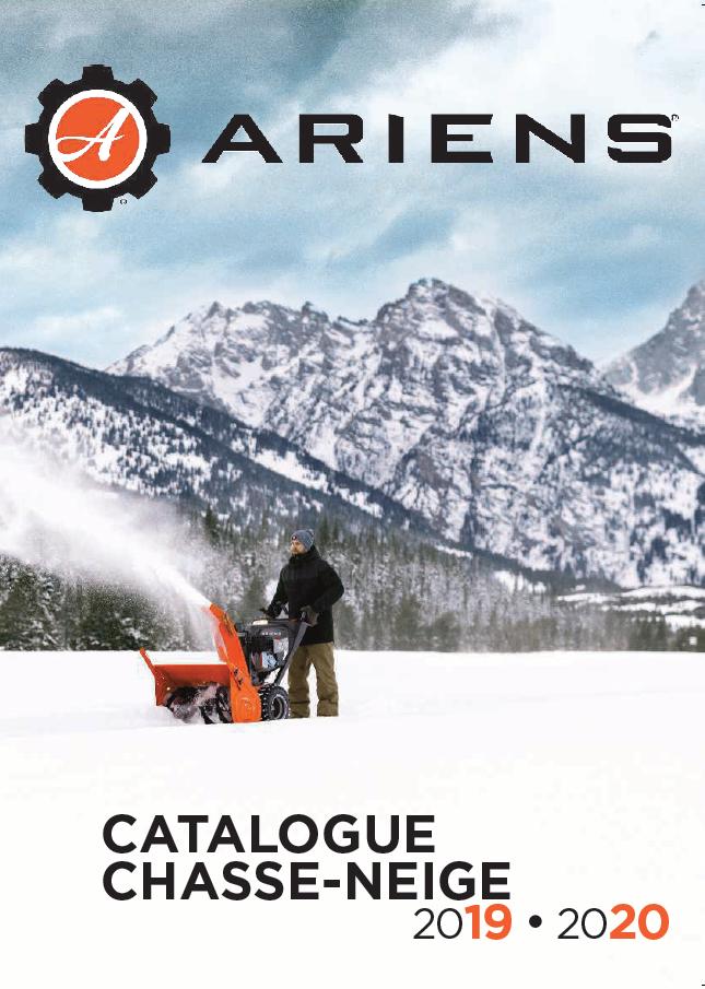 Brochure Chasse-neige Ariens 2019-2020